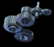 Mechanism of gear wheels Royalty Free Stock Image