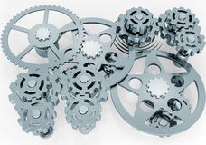 Mechanism of gears Stock Photos