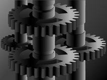 Mechanism from gears. Background the mechanism from gears in a vector Royalty Free Stock Photo