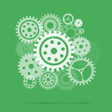 Mechanism with gears and cogs working together, idea concept. Royalty Free Stock Image