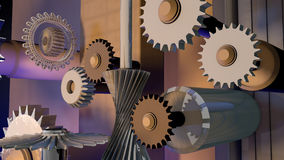 The mechanism from gears Stock Images