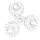 Mechanism with gears Stock Images
