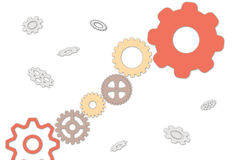 The mechanism of gears Stock Images