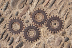 Mechanism in the ground Royalty Free Stock Photography