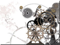 Mechanism Grunge. Illustration vector and raster Stock Images