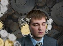 Mechanism in the head Stock Image