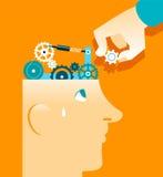 Mechanism in head repair Stock Image