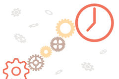 The mechanism of hours with gears Royalty Free Stock Photography