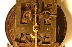 Mechanism. The inside of the watch with the sound signal Stock Photos