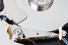 Mechanism of internal hard disk drive. Mechanism of internal 3.5-inch sata hard disk drive close up Stock Photos