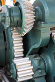 The mechanism of the large gear of Stock Photo