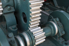 The mechanism of the large gear of Royalty Free Stock Photo