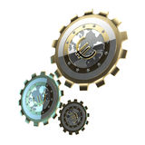 Mechanism made of gears. Isolated on white vector illustration