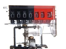 The mechanism of a mechanical counter with gears. Royalty Free Stock Photography
