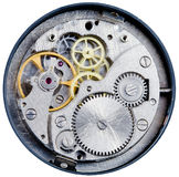 Mechanism of mechanical watch Royalty Free Stock Images