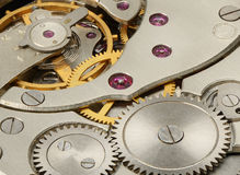 Mechanism of mechanical watches Stock Photo