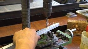 Mechanism in metal workshop stock video