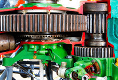 The mechanism of the motor gear. The old mechanism of the motor gear Royalty Free Stock Image