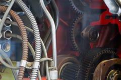Mechanism of motor gear under glass Stock Image