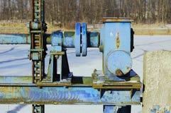 Mechanism movable weir Stock Photos