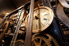 Free Mechanism Of The Old Clock Tower Stock Photo - 55263550