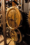 Mechanism of the old clock tower Royalty Free Stock Photos