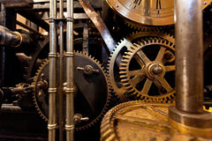 Mechanism of the old clock tower Stock Images