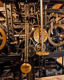 Mechanism of the old clock tower Stock Photo