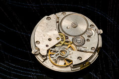 The mechanism of old clock. Royalty Free Stock Photos