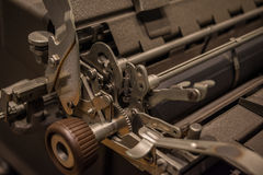 The mechanism of a old and vinage typewriter Royalty Free Stock Images
