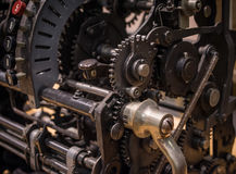 The mechanism of a old and vinage typewriter Stock Photo