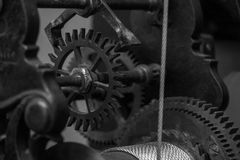 The mechanism of a old and vintage machine Stock Photos