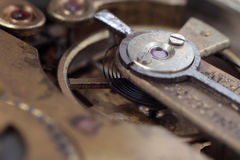 The mechanism of an old watch Royalty Free Stock Photos
