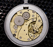 Mechanism of old wristwatches Royalty Free Stock Images