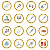 Mechanism Parts Icons Circle Royalty Free Stock Photography