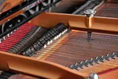Mechanism of piano, closeup. Mechanism of piano, close up Royalty Free Stock Image