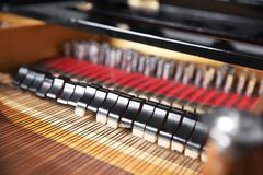 Mechanism of piano, closeup. Mechanism of piano, close up Royalty Free Stock Images
