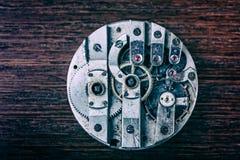 Mechanism of pocket clock Royalty Free Stock Image