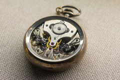 Mechanism of a pocket watch Stock Photography