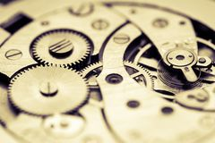 Mechanism of pocket watch Stock Images