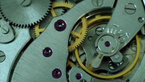 Mechanism of a pocket watch stock video footage