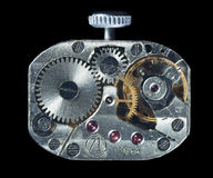 Mechanism of pocket watches `Luch 1800` Royalty Free Stock Photography