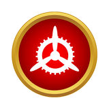 Mechanism of propeller icon, simple style Stock Photo
