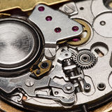 Mechanism of quartz watch Stock Photos