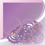 Mechanism system cogwheels. White paper gears. Origami  cut style tech project. Royalty Free Stock Photo