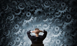 Mechanism of teamwork and collaboration Royalty Free Stock Photos