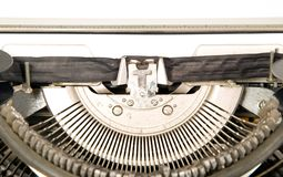 Mechanism of type writing machine Royalty Free Stock Images