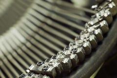 Mechanism of type writing machine Royalty Free Stock Photos