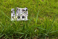 Mechanism video tapes grass Stock Photography