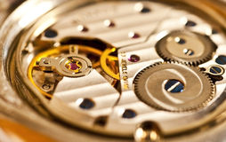 Mechanism of a watch, detail Stock Image